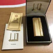 Vintage Authentic Dunhill Lighter Gold With Box