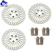 Polished 11.8 Complete Brake Rotors Pads Touring Electra Glide Flht 2008-2013