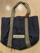 Mister Freedom X Sugar Cane Autographed Denim Tote Bag Used From Japan