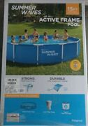 Summer Waves 15 Ft X 33 In Active Metal Frame Swimming Pool W Filter Pump