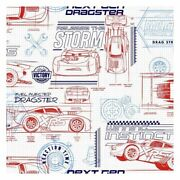 York Di0915 Red Disney And Pixar Cars Schematic Unpasted Wallcoverings