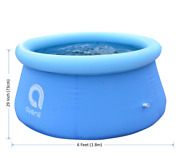 New 6and039 X 29 6 Feet Inflatable Round Outdoor Backyard Kids Swimming Pool