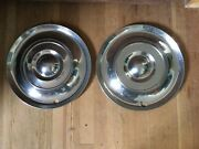 Pair Of Two 1954 Chrysler Hubcaps. 15andrdquo