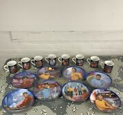 Lot Of Star Trek Collector Plates Cups By Hamilton 1983 Artwork By Susie Morton.