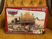 Mattel Disney Pixar Cars Radiator Springs Curio Shop Playset Complete With Box