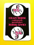 Crazy Horse Campground Spotted Horse Single Swap Playing Card