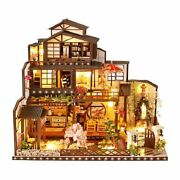 3d Wooden Miniatures Home Decors Villa Building Dollhouse Assembly Kits Display