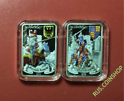1000 Francs 2014 Benin German And English Knight Silver Proof Set