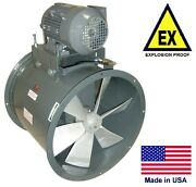 Tube Axial Duct Fan - Explosion Proof - 15 - 1 Hp - 230/460v - 4250 Cfm - Wet
