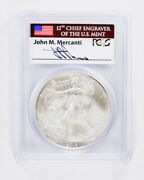 2013 Silver American Eagle Pcgs Ms70 First Strike Mercanti Signature Label 1
