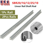 1/2pcs Sbr20/16/12/25/10 200-2000mm Linear Rail Shaft Rod Fully Supported Guide