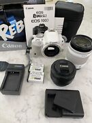 Canon Eos Rebel Sl1 With Efs 18-55mm Lens. Extra 50mm Lens + 3 Batteries.
