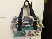 Rare Harajuku Our Love Is The Real Thing Camouflage Purse Tote Bag Embroidered