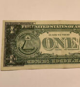 1 Error Bill 1963 A Major Offset Printing On Back Free Ship And Hard-case Unc.