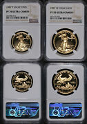 1987 Gold American Eagle 2 Coin Proof Set Ngc Pf70 Ultra Cameo Brown Label Stock