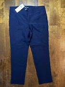 Eileen Fisher System Crepe Stretch Slim Ankle Pants Midnight Small Nwt
