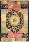 Hand-knotted 6and0393 X 8and03910 Shalimar Bordered Casual Transitional Wool Rug
