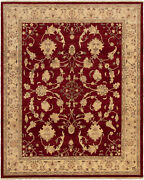 Hand-knotted Carpet 8and0391 X 9and03910 Traditional Vintage Wool Rug