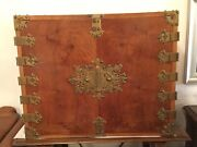 Antique/ Vintage Korean Styled Chest Of Drawers W/ Ornate Brass Hardware