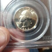 1967 Washington Quarter Pcgs Ms67 Sms