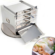 4-layer Steamer Drawers Food Steaming Cooking Baking Rice Noodle Roll Machine Us