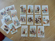 Singer Sewing Machine Trade Cards Big Collection As One Lot Beautiful Lithogra