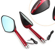 Rearview Side Mirror Left And Right Sides Fit All Motorcycle Universal 2pcs