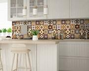 Decorative Tile Stickers Set Of 24 Peel And Stick - 15x15-cm