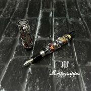 Montegrappa Limited Edition Chaos Sterling Silver 18k Fountain Pen