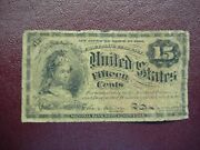 15 Cent Fractional Note - 1863 - 4th Issue - Oldtime Paper Note
