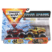 Monster Jam Northern Nightmare And Earth Shaker Reveal The Steel Color Change 1/64