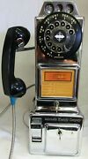 Automatic Electric Chrome Pay Telephone 1950and039s Fully Restored 2