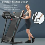 Electric Motorized Treadmill With Audio Speakers Fitness Machine Home Gym