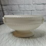Mid Century English Wedgwood Queensware Rams Head Pedestal Bowl/ Compote