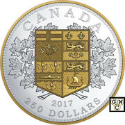2017 250 Fine Silver Coin The First Canadian Gold Coin 18149nt