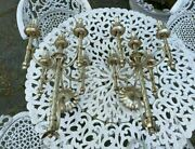 Pair Of Vintage Antique Gothic Arts And Crafts Candelabra Wall Lamp Light Sconces