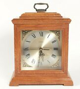 Linden Clock Westminster Chime Oak Case Mantle Quartz Electronic 13 Inches Tall