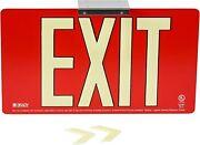 Brady 145533 75and039 Viewing Distance Red Double Sided Exit Sign - 9x15.75