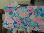 108 Lilly Pulitzer Helina Dress Large Multi Peony For Your Thoughts