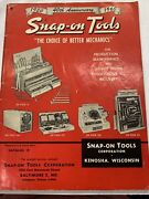 Rare Original Vintage Old Snap-on Tools Catalog X Issued May 1960
