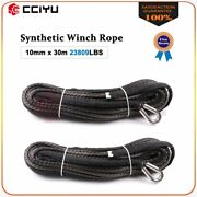 2/5 X 100ft Synthetic Winch Rope Line Grey Recovery Cable 4wd Atv 23000lbs 2pcs