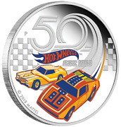 50 Years Of Hot Wheels 2018 1oz Silver Proof Coin Perth Mint 50th Anniv. Low Coa