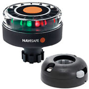 Navisafe Navilight Tricolor 2nm W/navibolt Base Andamp Horizontal Mount - Blac...