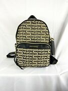 Nwt Juicy Couture Gothic Status Logo Faux Leather Backpack W/ Heart Charm Rt 89
