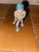Vintage Barclay Manoil Lead Toy Soldiers B-262 Pod Foot Flame Thrower Green
