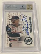 Dale Earnhardt Sr. 1999 Press Pass Signings On Card Autograph /400 Bgs 9 Mint