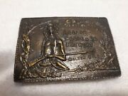 Vintage Adolf Coors And Co Brewery Belt Buckle Native American 1970and039s Nos