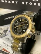 Movado Menand039s Watch Series 800 Two Tone Chronograph Watch 2600138 Limited Edition