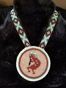 Native American Beaded Pow Wow Medallion Necklaces