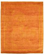 Hand-knotted Color Transition Copper Wool Rug 8and0392 X 10and0391